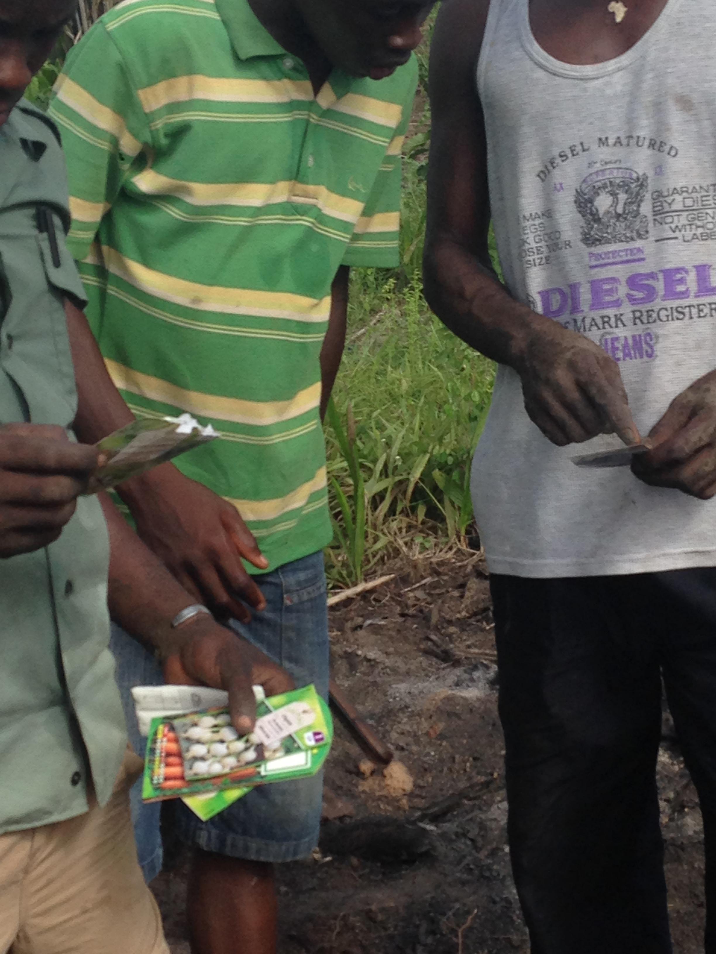 Mission aménagement : Plantation de graines (Mai 2014)