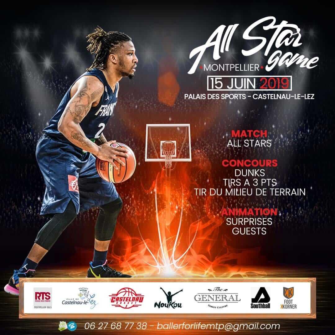 Juin 2019 – Noukou – Présent au All Star Game à Montpellier le 15 juin