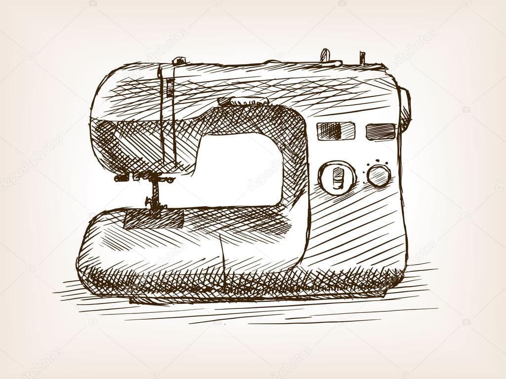 Atelier à coudre, machine à coudre, tissu …